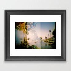 Venice Canals [lo-fi] Framed Art Print