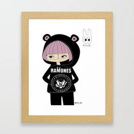 Ramones Girl Framed Art Print