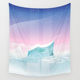 Arctic landscape. Wall Tapestry