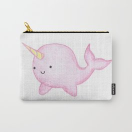 Cute Pink Narwhal Carry-All Pouch