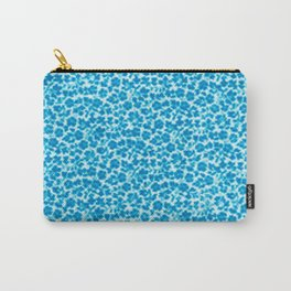 Blue Vintage Flowers Carry-All Pouch