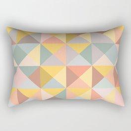 Earthy Pastels Geometric Pattern Rectangular Pillow