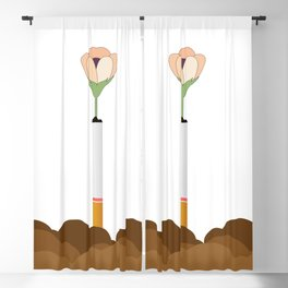 Ground, Cigarette and Flower Blackout Curtain