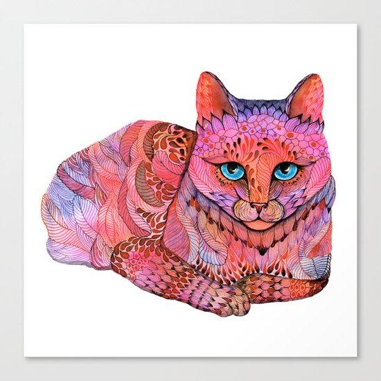 SUNSET CAT Canvas Print