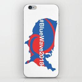#BlueWave2018 iPhone Skin