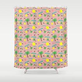 Beachy Keen Pattern Shower Curtain