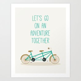 Adventure Together on and Bicycle built for two Art Print