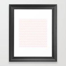 Lovely Pink and White Heart Pattern Framed Art Print