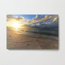 Sunset at Turks and Caicos Islands Metal Print