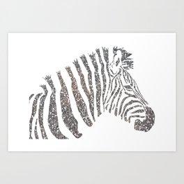 Party Zebra Art Print
