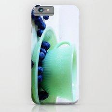 Retro Breakfast - Jadite and Blueberries Slim Case iPhone 6s