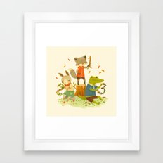 Counting with Barefoot Critters Framed Art Print