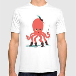 Octopus in Boots T-shirt