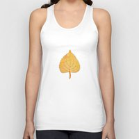 lonely Tank Tops featuring Lonely Leaf by Klara Acel