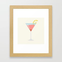 Martini Alcohol Drink Illustration Framed Art Print