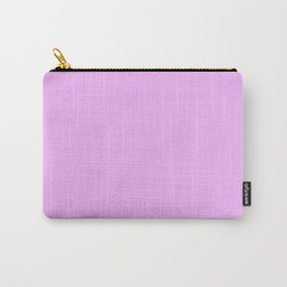 Hibiscus Solid Lilac Bud Accent Carry-All Pouch