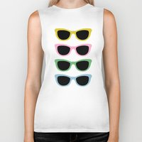 sunglasses Biker Tanks featuring Sunglasses #4 by Project M