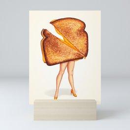 Grilled Cheese Sandwich Pin-Up Mini Art Print