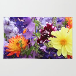 Profusion of Flower Friends By Mandy Ramsey Rug