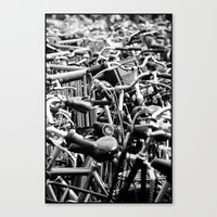 bicycles Canvas Prints featuring Bicycles by Zita Hisschemöller