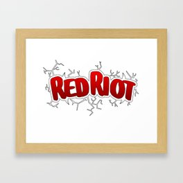 Red Riot! Framed Art Print