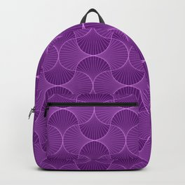 Lilac Abstract Flower Petals Pattern Backpack