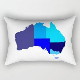 Australia State Silhouette Rectangular Pillow
