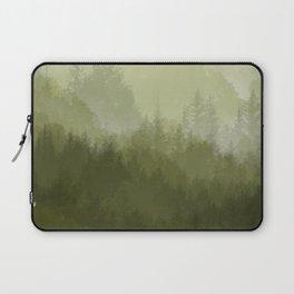 green forest fog Laptop Sleeve