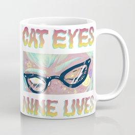 Cat eyes, nine lives Coffee Mug