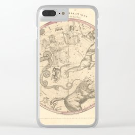 The Northern Constellations for Each Month of the Year (1856) Clear iPhone Case