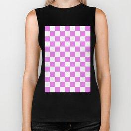 Checker (Violet/White) Biker Tank