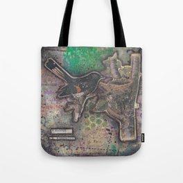 redstart bird canvas collage Tote Bag