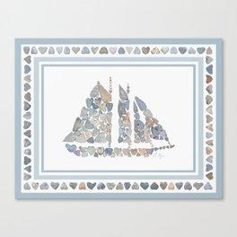 Schooner design Canvas Print