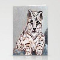 snow leopard Stationery Cards featuring Snow Leopard by RakMeowww