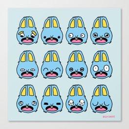 Bunny Emotions Canvas Print