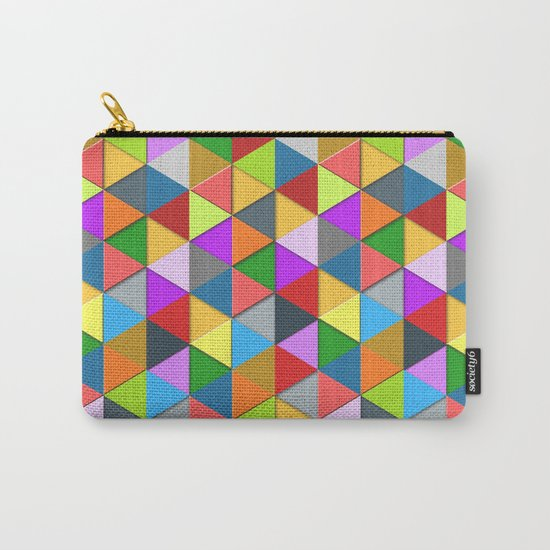 Colorful triangle galore geometric pattern Carry-All Pouch