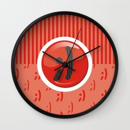 Red Writer's Mood Wall Clock