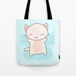 Kawaii Cute Snow Angel Cat Tote Bag