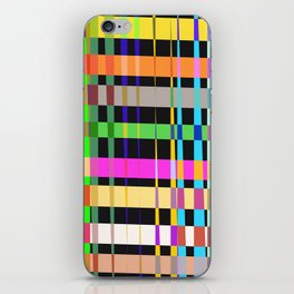 inclined coloured stripes iPhone Skin