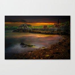 Porth Wen Brickworks Sunset Canvas Print