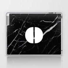 Black Marble - Alphabet O Laptop & iPad Skin