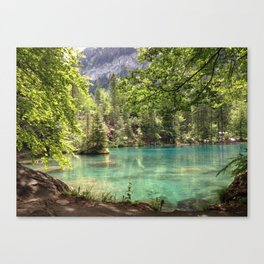 Blausee, Switzerland - Landscape Photography Canvas Print