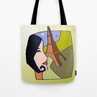 france Tote Bags featuring France by Karl-Heinz Lüpke