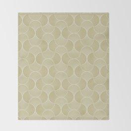 Scandinavian Floral - Art Deco Geometric Shapes Throw Blanket