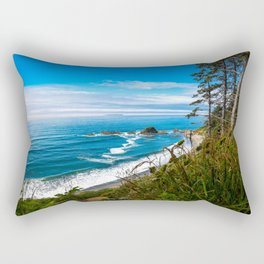 Pacific View - Coastal Scenery in Washington State Rectangular Pillow
