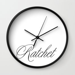 Ratchet Wall Clock