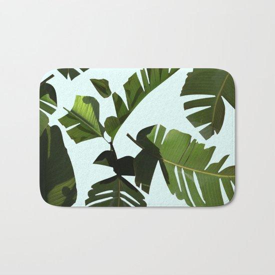 Palm Pattern Bath Mat