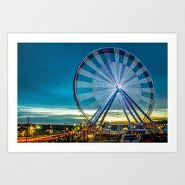 Branson Ferris Wheel at Dusk on the Strip Art Print