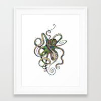 marine Framed Art Prints featuring Octopsychedelia by TAOJB