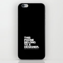 STEREOTYPE iPhone Skin